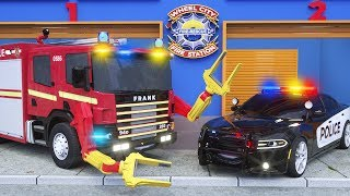 Frank the Fire Truck -in- Fire Engine Station - Wheel City Heroes (WCH) - Video for Children