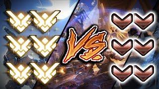 6 Grandmasters VS 6 Bronze - But Bronze Has 2x HP & +DMG | [CRAZY GAME] - Overwatch VS