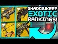 Destiny 2 - Ranking All 61 Exotic Weapons!! (Shadowkeep)