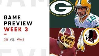 Green Bay Packers vs. Washington Redskins | Week 3 Game Preview | NFL Playbook
