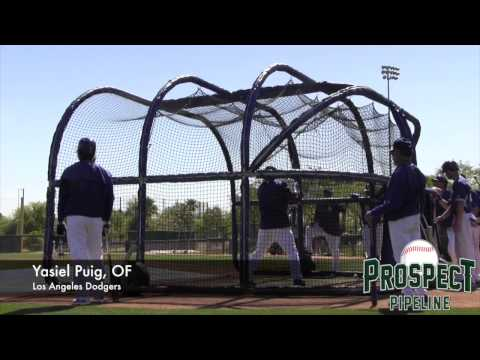 Yasiel Puig Batting Practice Video, OF, Los Angeles Dodgers