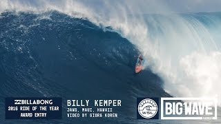 Billy Kemper at Jaws  - 2016 Billabong Ride of the Year Entry - WSL Big Wave Awards