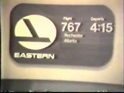 Eastern Airlines 727 in 1983 - Flight from Rochester to Albany, NY