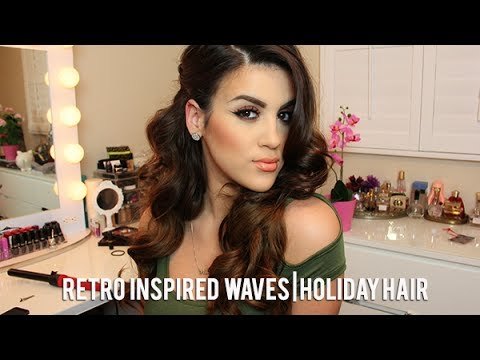 Retro Inspired Waves | Holiday Hair
