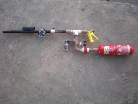 marcador caseiro de paintball - arma de pressão