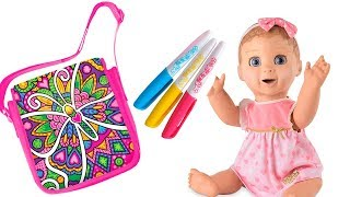 Lika plays with Doll Luvabella and they make COLOR BAGS JoyJoy Lika