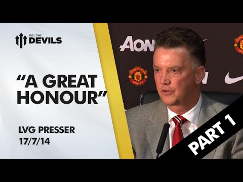 Louis van Gaal Manchester United Press Conference | Part 1