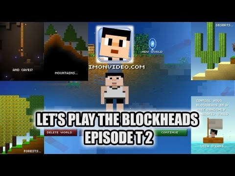 Let's Play The Blockheads - Episode 2 - Trolling!!