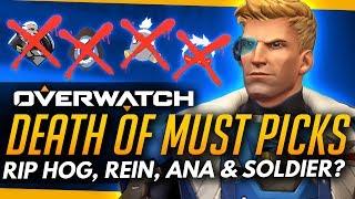 Overwatch   RIP Roadhog, Reinhardt... Ana & Soldier TOO!? - Death of the Must Picks