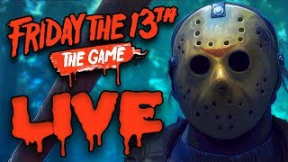I'M GETTING CHASED DOWN BY JASON VOORHEES LIVE!!! - [Friday the 13th Youtube Livestream]