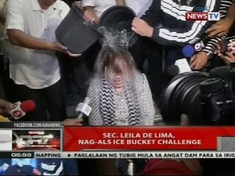 QRT: Sec. Leila de Lima, nag-ALS ice bucket challenge