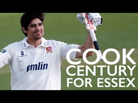 England Test captain Alastair Cook celebrated his new arrival with an unbeaten 139 as Essex took control of their LV= County Championship Division Two match ...