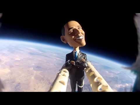 Barack Obama z wizytą na obrzeżach przestrzeni kosmicznej.