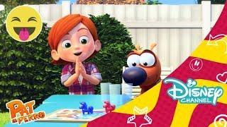 Pat el perro: Episodio completo - Colegas Babuinos contra castillos hinchables | Disney Channel
