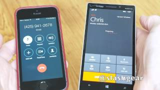 Windows Phone 8.1 voice to Skype video call handover demo