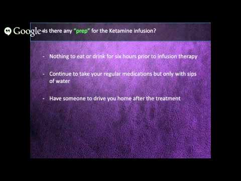 Q&A - Ketamine Infusion For The Treatment Of Depression - Part 3 of 3
