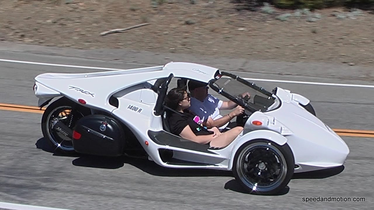 T-Rex, V-8 Trike and ???? on Mulholland - YouTube