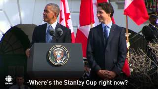 Justin Trudeau, Barack Obama & Hockey