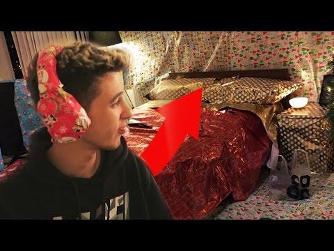 EPIC WRAPPING CHIP'S ROOM CHRISTMAS PRANK!!!