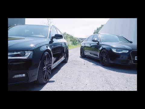 Audi A4 8K B8 mit Eibach Gewindefedern + 9x20 Twin-Monotube Felgen