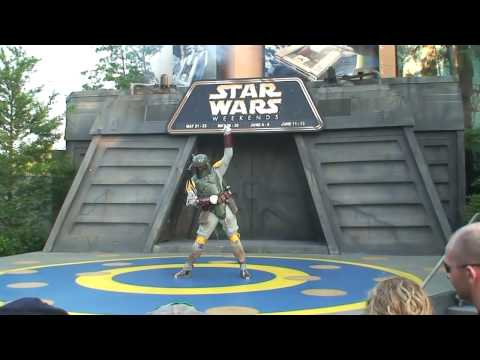 Boba Fett dances to Michael Jackson and Lady Gaga at Disney s Star Wars Weekends 2010