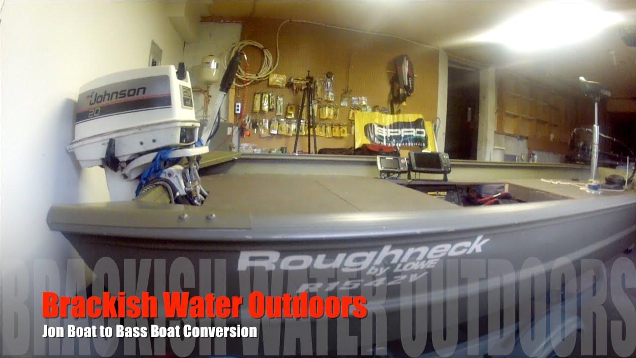 Jon boat to Bass boat conversion modification