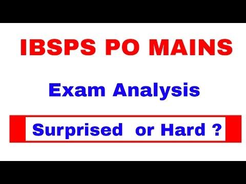 Exam Analysis of IBPS PO MAINS 2016    In Hindi