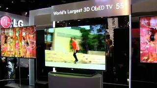 LG Displays World's Largest OLED 3D TV at CES