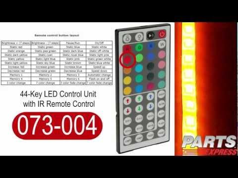 44-Key LED Control Unit with IR Remote Control