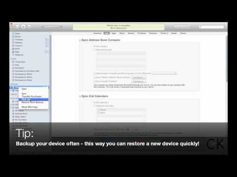 How to backup your Apple iPhone. iPad and iPod Touch through iTunes