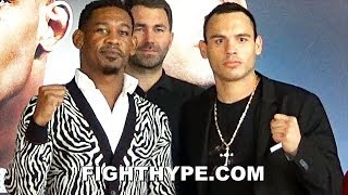 DANIEL JACOBS VS. JULIO CESAR CHAVEZ JR. FULL PRESS CONFERENCE AND FIRST FACE OFF