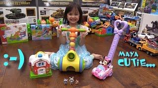 Kid's Toys: Disney Minnie Mouse Push Car, Leap Frog Farm House and Tomy Push N Pop