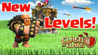 Clash of Clans UPDATE - NEW LEVELS!