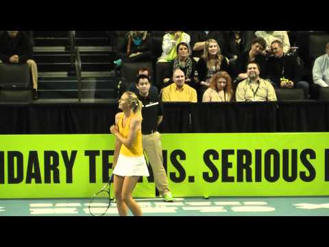 Federer Nadal McEnroe Sharapova Azarenka at Nike Clash of The Champions Part 1 of 2