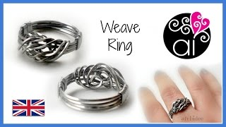 Weave Ring | Stainless Steel Wire | Wire Wrapping Tutorial | Eng
