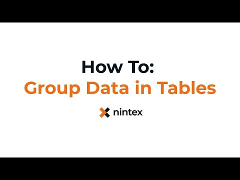 How To: Nintex Drawloop DocGen® for Salesforce - Group Data in Tables