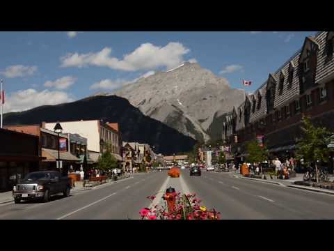 Banff, Alberta, Canadian Rockies, Mount Rundle, Cascade Mountain, Banff Springs Hotel, Vermillion Lakes, Tunnel Mountain, Bow River, Bow Bridge, Bow Falls, B...
