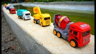 Mix Truck Excavator and Crane For Kids   Many Vehicles For Children   Kids Songs