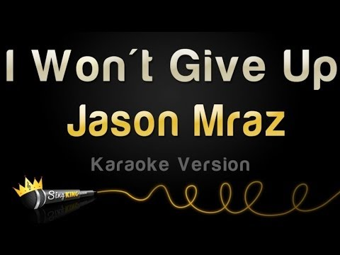 Jason Mraz - I Won't Give Up (karaoke Version) video