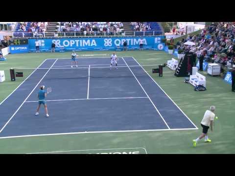 Tennis - ATP Champions Tour: John McEnroe & Monica Seles vs Mansour Bahrami & Kim Clijsters