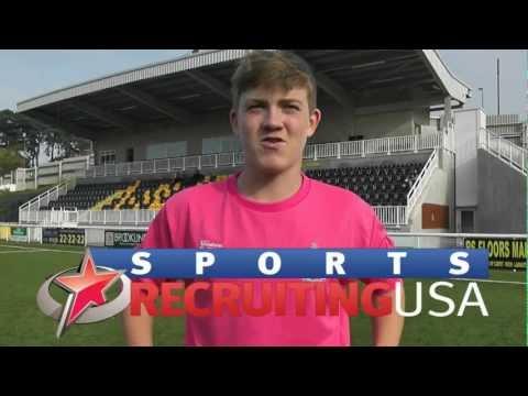 Harrison Rook (Eng), Soccer (Goalkeeper), Fall 2013 Entry. Soccer Scholarship Video