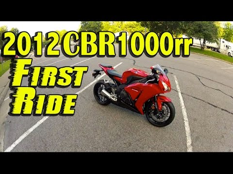 First Time Riding a 2012 Honda CBR1000rr - Compared to CBR600rr - First Impressions