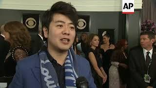 Sam Smith, Elton John, Lang Lang Speak on Grammy red carpet