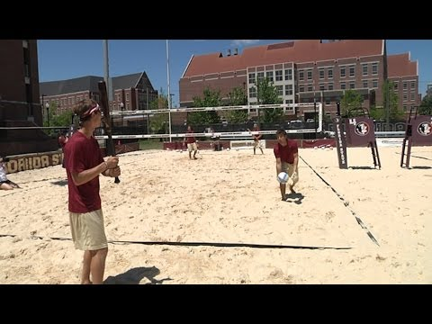 Courtesy http://www.seminoles.com: Members of the Florida State baseball team tried their hand at some sand volleyball. See the results here! Subscribe to th...