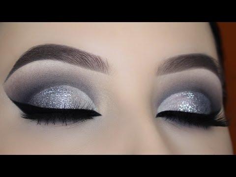 Silver Glitter Smokey Cut Crease Tutorial