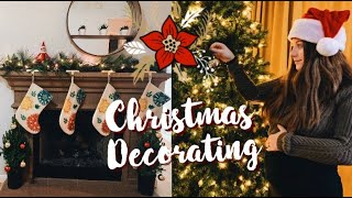 Decorating Our First Home For Christmas | Teen Mom Vlog