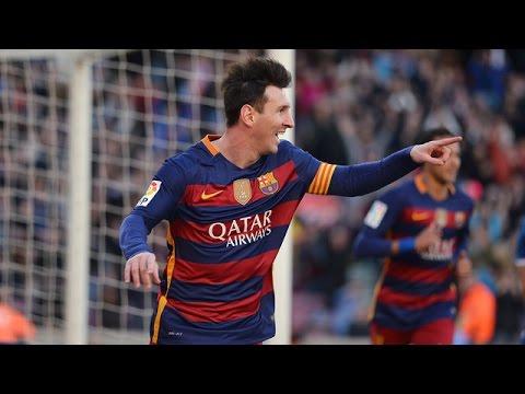 ¡Hattrick de Leo Messi! | FC Barcelona (4-0) Granada • La Liga 201516