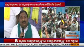TDP Leaders and Activists  Protests for Supporting Price |Khammam Market Yard|Police Arrest|Mahaa News