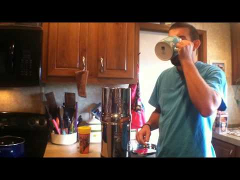Big Berkey water filter system review. assembly and water test