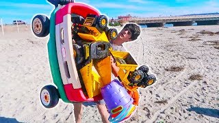 TOY MONSTER TRUCKS OVERLOAD + RC MONSTER TRUCK SURPRISE